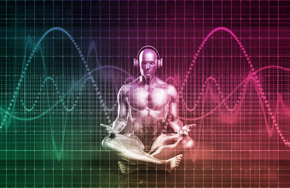 The Human Body with Graphical Sine Waves
